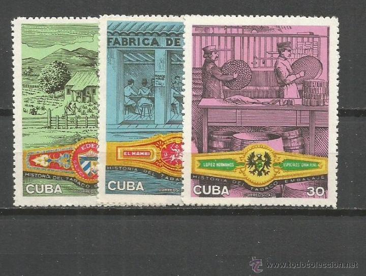 CUBA YVERT NUM. 1414/1416 * SERIE COMPLETA CON FIJASELLOS (Sellos - Extranjero - América - Cuba)