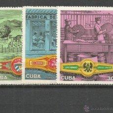 Sellos: CUBA YVERT NUM. 1414/1416 * SERIE COMPLETA CON FIJASELLOS. Lote 51782057