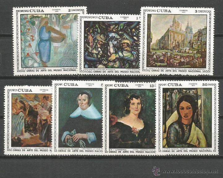 CUBA YVERT NUM. 1418/1424 * SERIE COMPLETA CON FIJASELLOS (Sellos - Extranjero - América - Cuba)