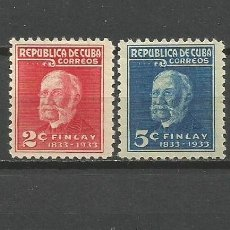 Sellos: CUBA YVERT NUM. 219/220 * SERIE COMPLETA CON FIJASELLOS. Lote 52132657