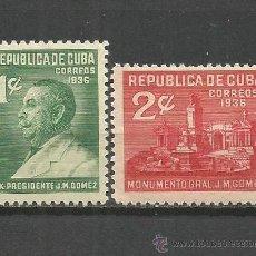 Sellos: CUBA YVERT NUM. 229/230 * SERIE COMPLETA CON FIJASELLOS. Lote 52132707