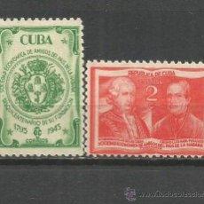 Sellos: CUBA YVERT NUM. 285/286 * SERIE COMPLETA CON FIJASELLOS. Lote 52132880