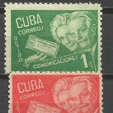 Sellos: CUBA YVERT NUM. 293A/293C * SERIE COMPLETA CON FIJASELLOS. Lote 52132910
