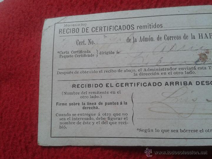 Sellos: RECIBO DE CERTIFICADOS REMITIDOS DEPARTAMENTO CORREOS CUBA MATASELLOS CIENFUEGOS 1901 PARA COLECCION - Foto 3 - 52498653