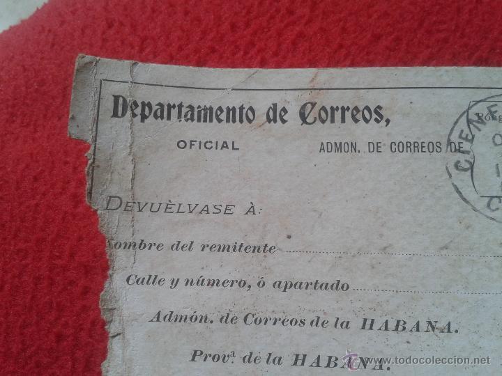 Sellos: RECIBO DE CERTIFICADOS REMITIDOS DEPARTAMENTO CORREOS CUBA MATASELLOS CIENFUEGOS 1901 PARA COLECCION - Foto 4 - 52498653