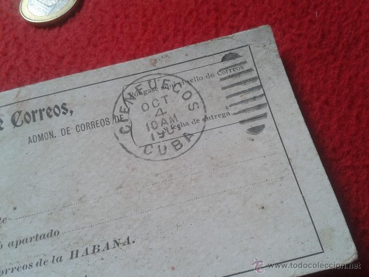 Sellos: RECIBO DE CERTIFICADOS REMITIDOS DEPARTAMENTO CORREOS CUBA MATASELLOS CIENFUEGOS 1901 PARA COLECCION - Foto 5 - 52498653