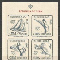 Sellos: CUBA HOJA BLOQUE YVERT NUM. 17 ** JUEGOS OLIMPICOS DE TOKIO NUEVA SIN FIJASELLOS. Lote 53496618