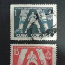 Sellos: SELLOS DE CUBA. DEPORTES. BEISBOL. YVERT 663/4. SERIE COMPLETA USADA.. Lote 53583205