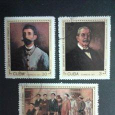 Sellos: SELLOS DE CUBA. PINTURAS. YVERT 1536/8. SERIE COMPLETA USADA.. Lote 54277144