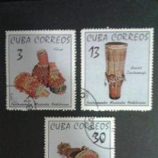Sellos: SELLOS DE CUBA. ARTESANÍA. MÚSICA. YVERT 1618/20. SERIE COMPLETA USADA.. Lote 54277147