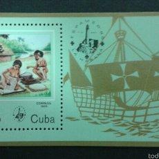 Sellos: SELLOS DE CUBA. DESCUBRIENTO AMÉRICA. YVERT HB-88. SERIE COMPLETA NUEVA SIN CHARNELA.. Lote 54297001