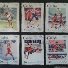 Sellos: SELLOS DE CUBA. DEPORTES. YVERT 2417/21. SERIE COMPLETA USADA.. Lote 55321890