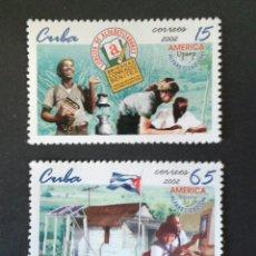 Sellos: SELLOS DE CUBA. YVERT 4032/3. AMÉRICA UPAEP. SERIE COMPLETA NUEVA SIN CHARNELA. EDUCACIÓN.. Lote 54585595