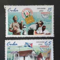 Sellos: SELLOS DE CUBA. YVERT 4032/3. AMÉRICA UPAEP. SERIE COMPLETA NUEVA SIN CHARNELA. EDUCACIÓN. Lote 54585617