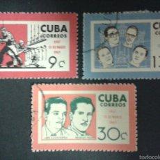 Sellos: SELLOS DE CUBA. YVERT 660/2. SERIE COMPLETA USADA.. Lote 55146230