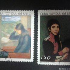 Sellos: SELLOS DE CUBA. YVERT 1395/6. SERIE COMPLETA USADA.. Lote 55146376