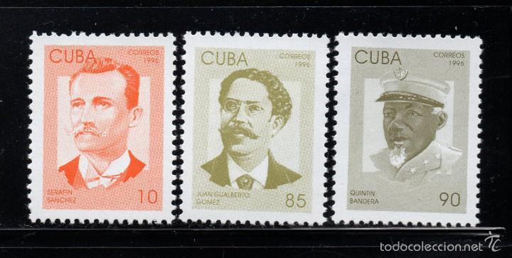 CUBA 3539/41** - AÑO 1996 - PATRIOTAS CUBANOS (Sellos - Extranjero - América - Cuba)