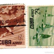Sellos: CUBA 1956-CORREO AEREO- N.500/502B- -USADOS . Lote 55938268