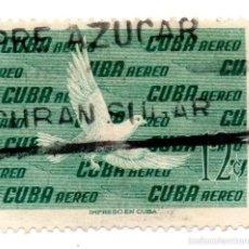 Sellos: CUBA 1956-CORREO AEREO- N.498-VERDE -USADOS . Lote 55938349