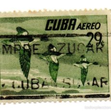 Sellos: CUBA 1956-CORREO AEREO- N.502C-VERDE -USADOS . Lote 55938507