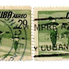 Sellos: CUBA 1956-CORREO AEREO- N.502D-VERDE -USADOS . Lote 55938515