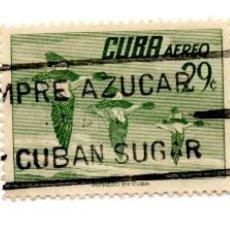 Sellos: CUBA 1956-CORREO AEREO- N.502E-VERDE -USADOS . Lote 55938662