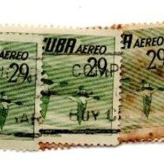 Sellos: CUBA 1956-CORREO AEREO- N.502H-VERDE -USADOS . Lote 55938679