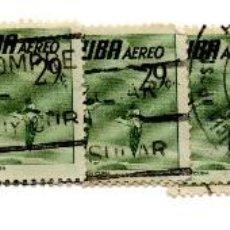 Sellos: CUBA 1956-CORREO AEREO- N.502K-VERDE -USADOS . Lote 55938690
