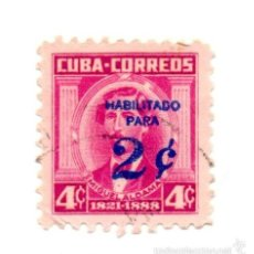 Sellos: CUBA 1960-N.637-SELLO POSTAL SOBRECARGADO-ROJO-USADO. Lote 55997130