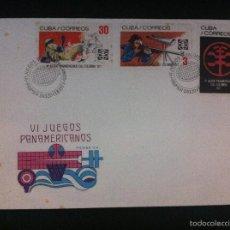 Sellos: CARTA VI JUEGOS PANAMERICANOS CALI COLOMBIA 1971 PRIMER DIA. Lote 58005373