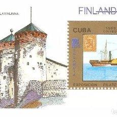 Sellos: CUBA,1988 HOJITA, CAT.MI. BL 105. Lote 62645148