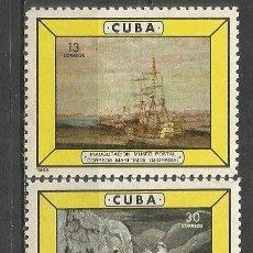 Sellos: CUBA YVERT NUM. 819/820 ** SERIE COMPLETA SIN FIJASELLOS. Lote 66853554