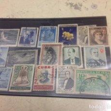 Sellos: LOTE 16 SELLOS DE CUBA CIRCULADOS. Lote 67697513