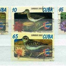Timbres: CUBA,2002,PÁJAROS,USADOS. Lote 72946001