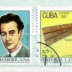 Timbres: CUBA,1991,MÚSICA,USADOS. Lote 72946137