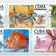 Timbres: CUBA,1994,ACUICULTURA,USADOS. Lote 72946145