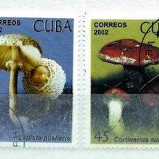 Timbres: CUBA,2002,SETAS,USADOS. Lote 72946269