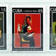 Timbres: CUBA,2002,PINTURA,USADOS. Lote 72946273