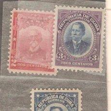 Sellos: CUBA,1910/1911,LOTE 5 VALORES,NUEVOS,GOMA ORIGINAL,FIJASELLOS.. Lote 72982979