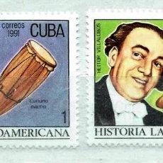 Timbres: CUBA,1991,MÚSICA,USADOS. Lote 72946133