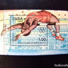 Sellos: CUBA 1990 JUEGOS OLIMPICOS DE VERANO BARCELONA 92 YVERT N º 118 ** MNH. Lote 86330624