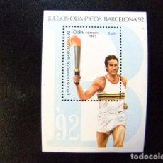 Sellos: CUBA 1992 JUEGOS OLIMPICOS DE VERANO BARCELONA 92 YVERT 123 ** MNH. Lote 86331032