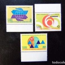 Sellos: CUBA 1979 VI CUMBRE DE PAISES NO ALIENADOS YVERT & TELLIER 2116 / 2118 (*) . Lote 86357648