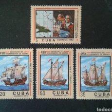 Sellos: CUBA. 2399/402. SERIE COMPLETA NUEVA SIN CHARNELA. DESCUBRIMIENTO DE AMÉRICA. COLÓN. . Lote 86411107