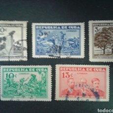 Sellos: CUBA. 212/6. SERIE COMPLETA USADA. GUERRA DE INDEPENDENCIA CUBANA. Lote 86411476