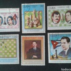 Sellos: CUBA. 2864/9. SERIE COMPLETA USADA. AJEDREZ. . Lote 86417191