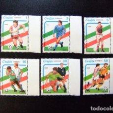 Sellos: CUBA 1989 COPA MUNDIAL DE FUTBOL FIFA ITALIA 90 YVERT 2920 / 2925 ** MNH. Lote 86431196