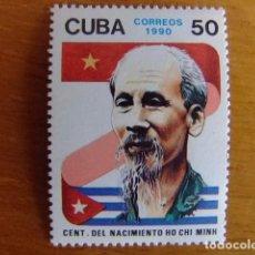 Sellos: CUBA 1990 CENTENARIO DEL NACIMIENTO DE HO CHI MIINH YVERT 3031 ** MNH . Lote 86434188