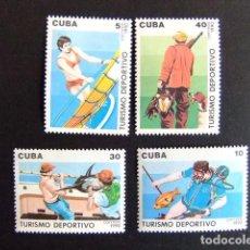 Sellos: CUBA 1990 TURISMO DEPORTIVO YVERT 3040 / 3043 ** MNH. Lote 86434808