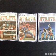 Sellos: CUBA 1990 XVI JUEGOS AMERICA CENTRAL Y CARIBE YVERT & TELLIER N º 3090 / 92 ** MNH. Lote 86436548